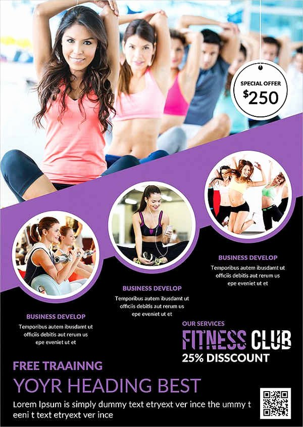 Free Fitness Flyer Template New 58 Fitness Flyer Templates Psd Word Ai Eps Vector