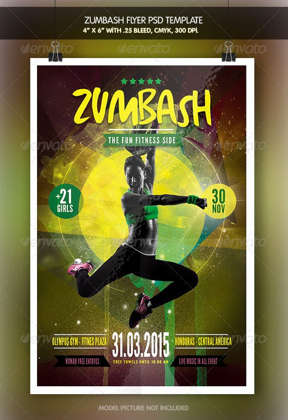 Free Fitness Flyer Template Unique Zumba Flyer Template Free Yourweek 9cbe4beca25e