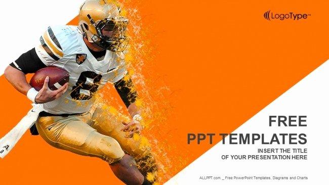 Free Football Powerpoint Template Beautiful American Football Game Powerpoint Templates