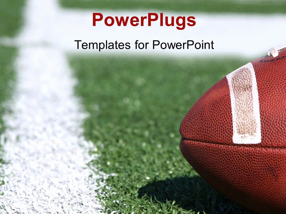 Free Football Powerpoint Template Beautiful Powerpoint Template American Collegiate Football On A