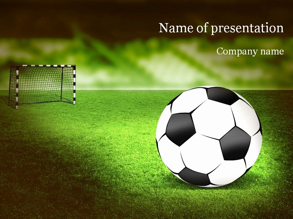 Free Football Powerpoint Template Beautiful soccer Powerpoint Template Templates