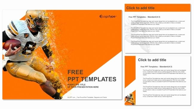Free Football Powerpoint Template Best Of American Football Game Powerpoint Templates