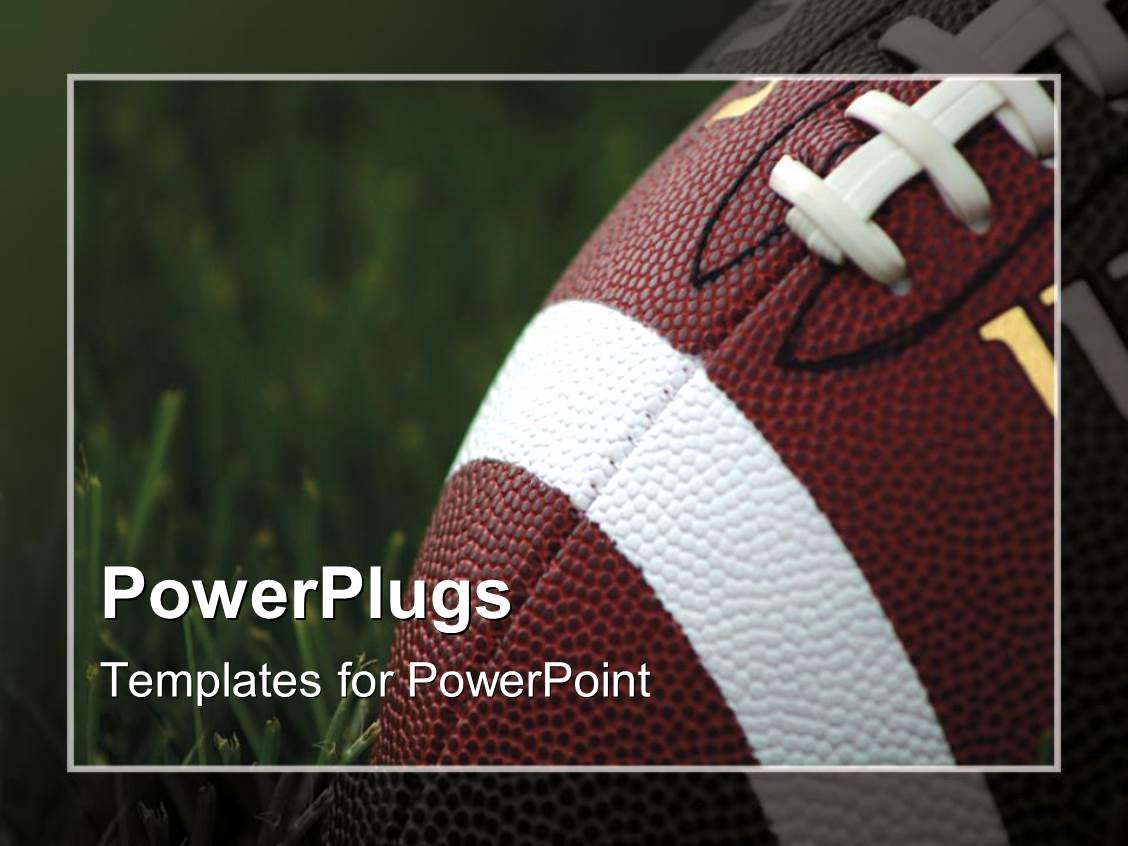 Free Football Powerpoint Template Fresh Powerpoint Template Close Up Of American Football On