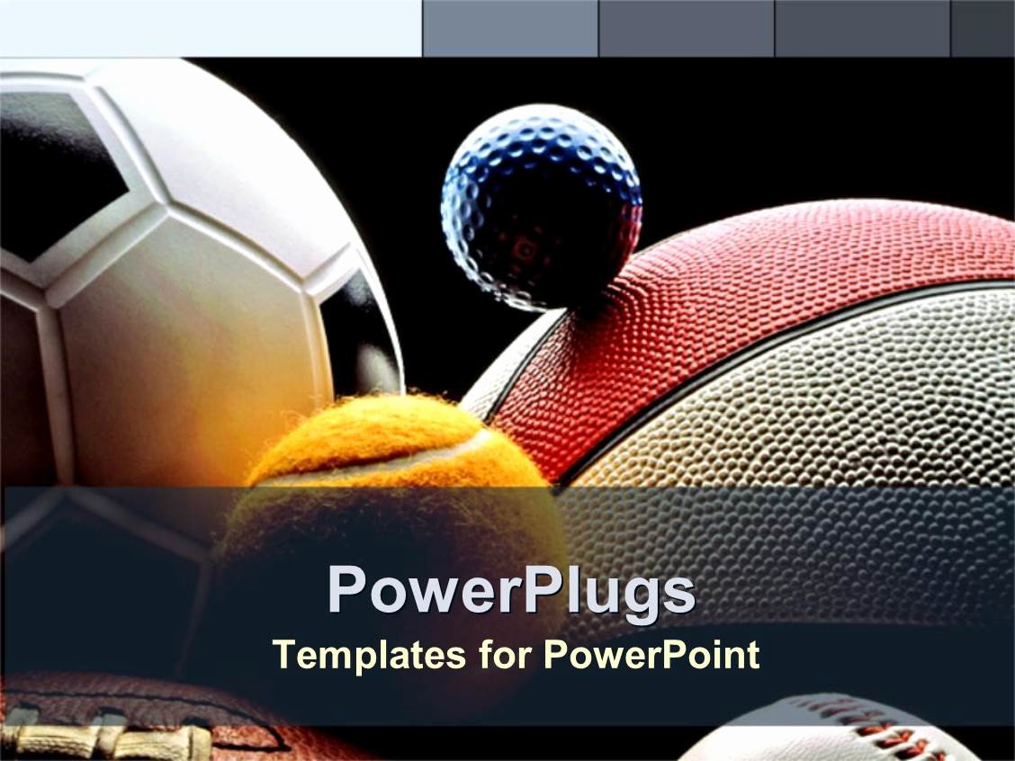 Free Football Powerpoint Template Fresh Powerpoint Template Various Balls American Football