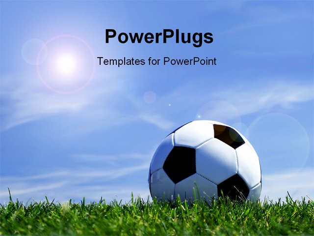 Free Football Powerpoint Template Lovely Powerpoint Template soccer Ball On Grass Depicting Sports