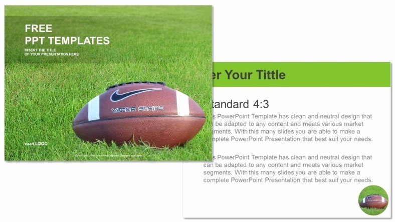 Free Football Powerpoint Template Luxury American Football Sports Ppt Templates