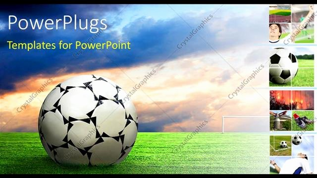 Free Football Powerpoint Template New Powerpoint Template soccer Ball Football Sport Game