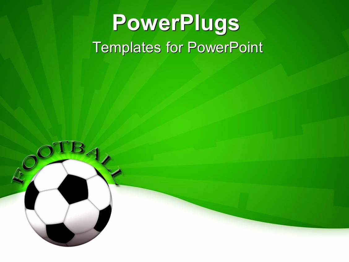 Free Football Powerpoint Template Unique Powerpoint Template A Football Shown with A Greenish