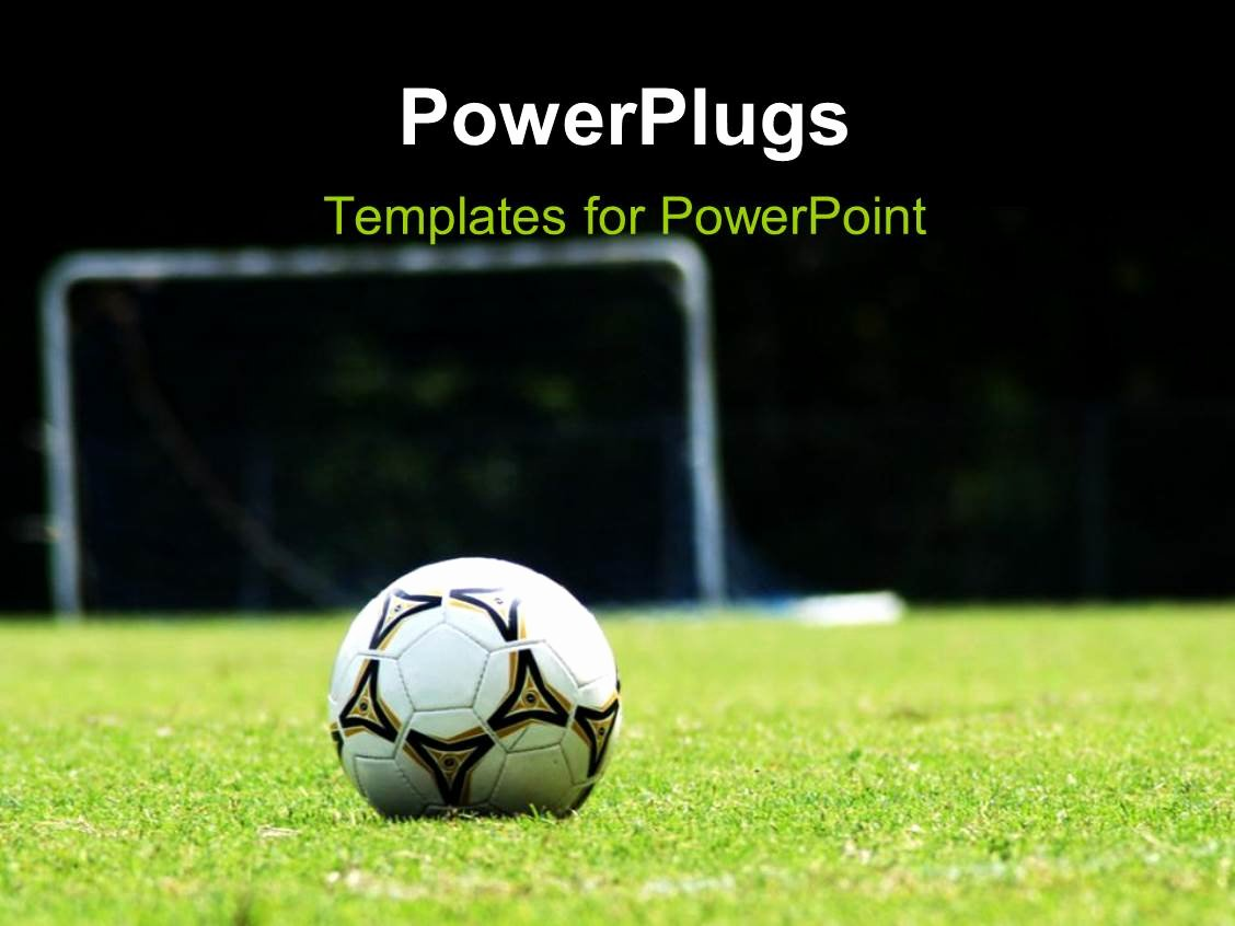 Free Football Powerpoint Template Unique Powerpoint Template White soccer Ball On Green Grass