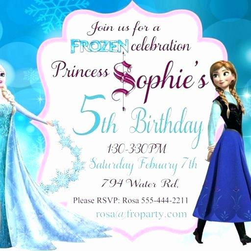 Free Frozen Invitation Template Beautiful Frozen Invitations Birthday Invitation Templates Free