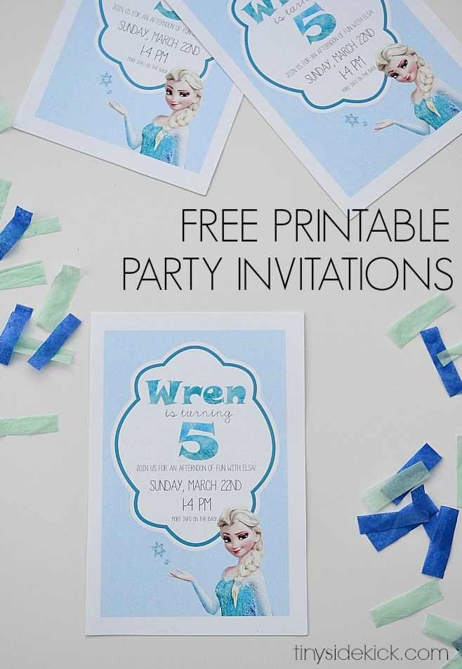 Free Frozen Invitation Template Best Of Free Printable Frozen Birthday Party Invitations