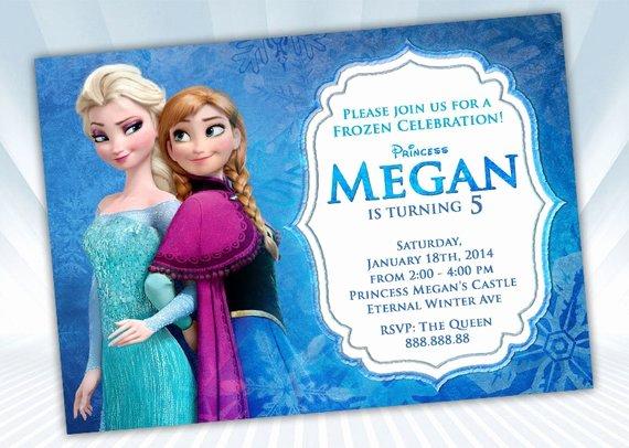 Free Frozen Invitation Template Elegant Disney Frozen Invitation