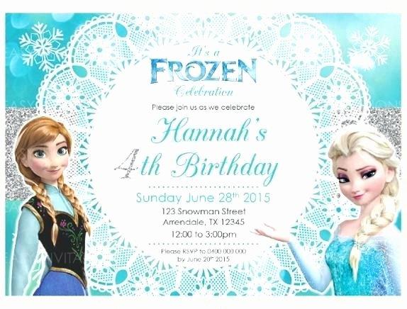 Free Frozen Invitation Template Fresh Free Frozen Invitations 5224 as Well as Frozen Party