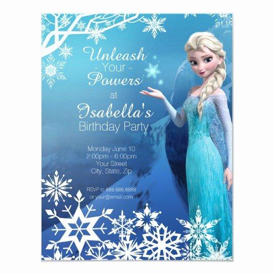 Free Frozen Invitation Template Fresh Frozen Elsa Birthday Party Invitation