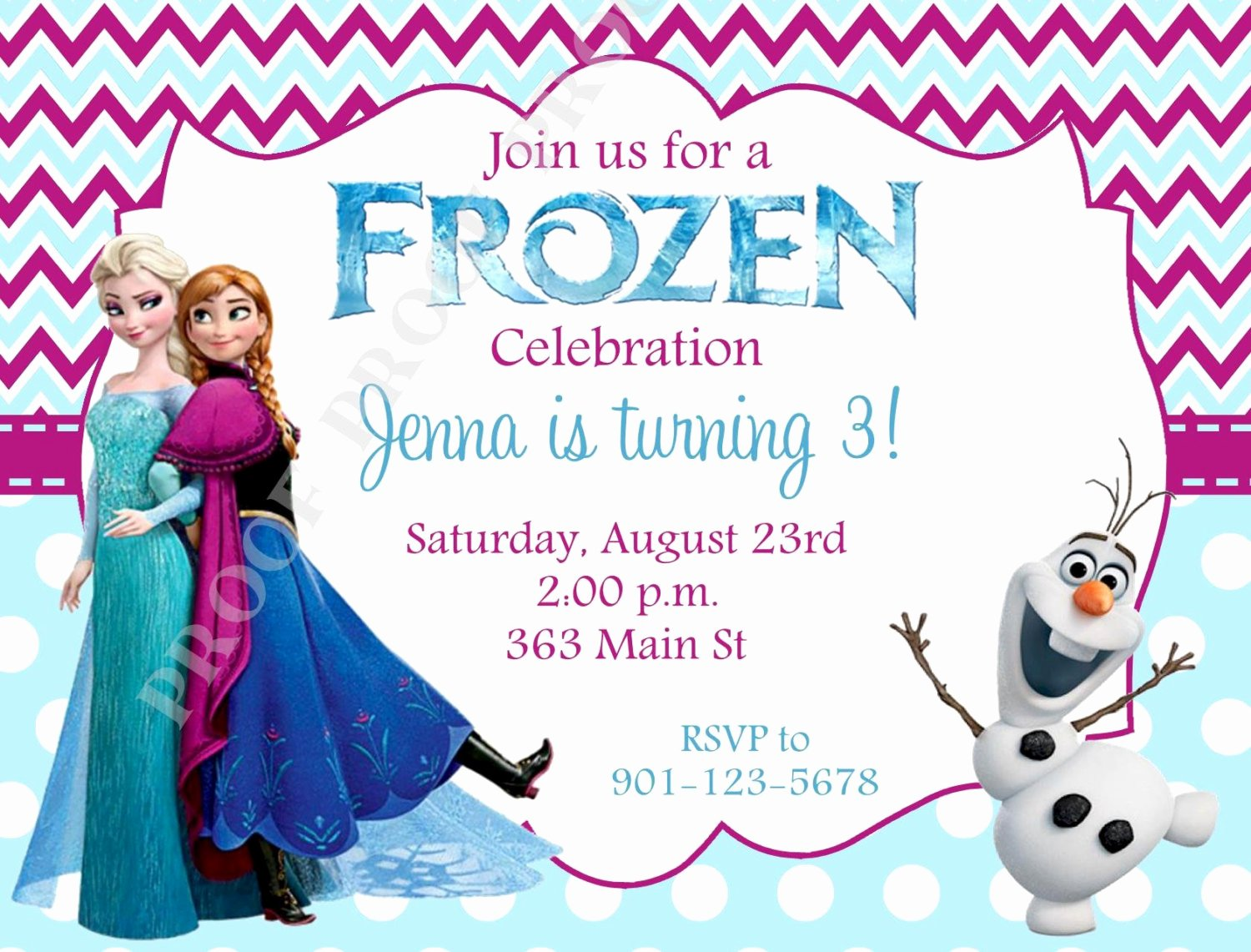 Free Frozen Invitation Template Inspirational 10 Printed Frozen Invitations with Envelopes Free Return