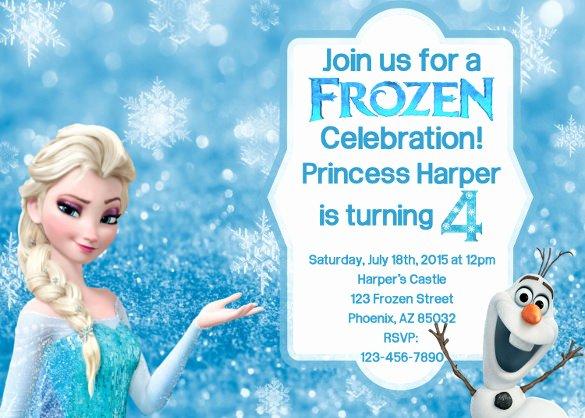 Free Frozen Invitation Template Lovely 12 Frozen Birthday Invitation Psd Ai Vector Eps