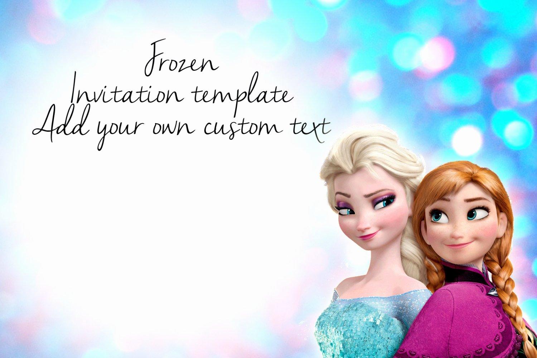 Free Frozen Invitation Template Lovely Frozen Invitation Template Download Beautiful Template