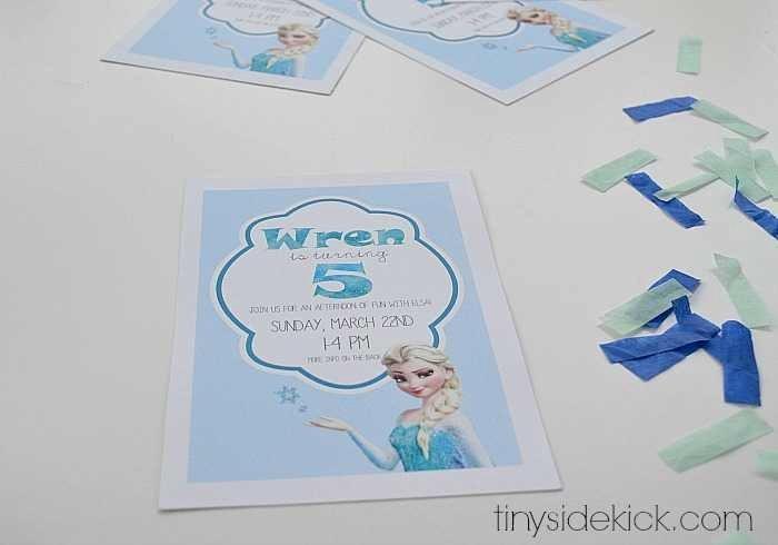 Free Frozen Invitation Template Luxury Free Printable Frozen Birthday Party Invitations
