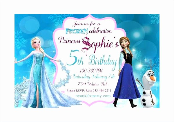 Free Frozen Invitation Template Luxury Frozen Party Invitations Template – orgul Gbt