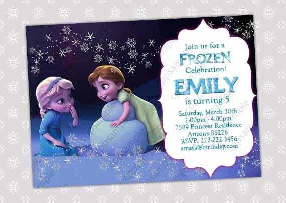Free Frozen Invitation Template New Items Similar to Frozen Invitation Frozen Birthday
