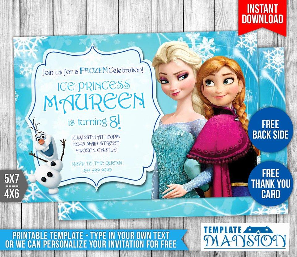 Free Frozen Invitation Template Unique Disney Frozen Birthday Invitation 1 by Templatemansion On