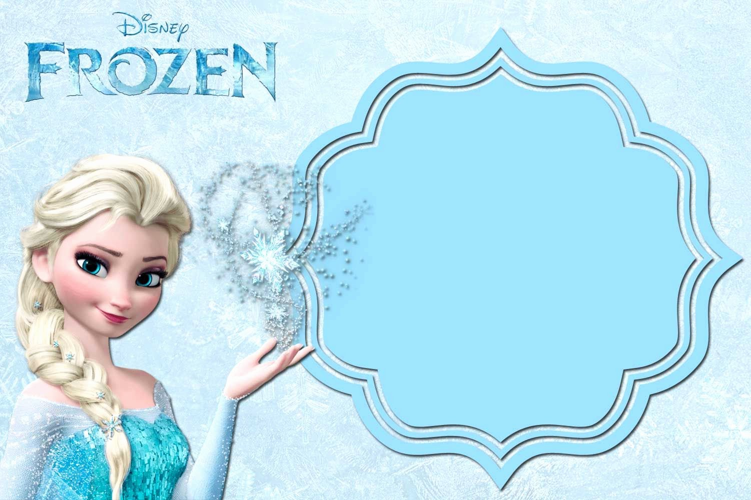 Free Frozen Invitations Template Awesome Free Printable Frozen Invitation Templates