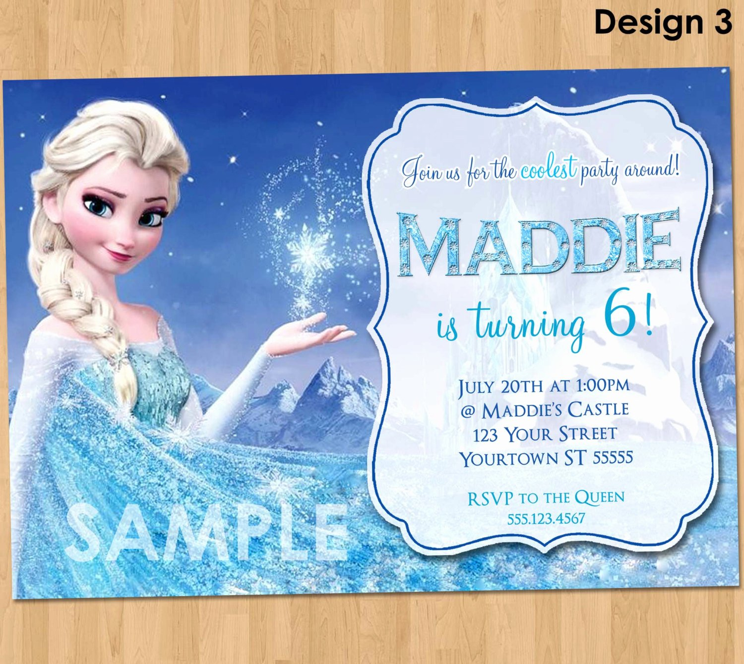 Free Frozen Invitations Template Beautiful Frozen Birthday Invitation Elsa Frozen Invitation