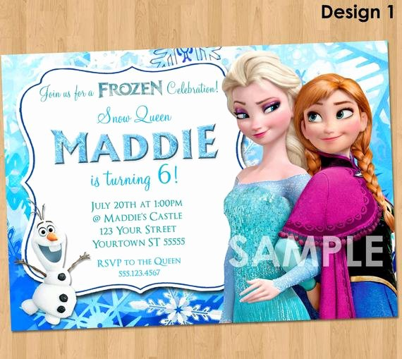 Free Frozen Invitations Template Fresh Frozen Invitation Frozen Birthday Invitation Disney Frozen