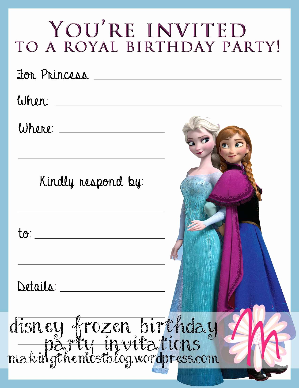 Free Frozen Invitations Template Luxury Frozen Birthday Invitations Printable Frozen Birthday