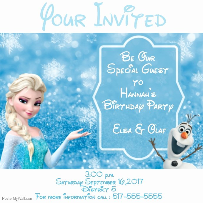 Free Frozen Invitations Template Luxury Frozen Invitations Template