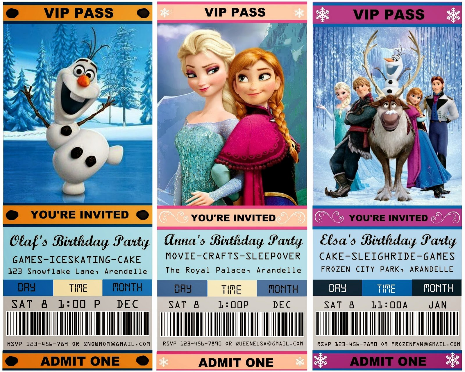 Free Frozen Invitations Template New 12 Cool Frozen Party Ideas