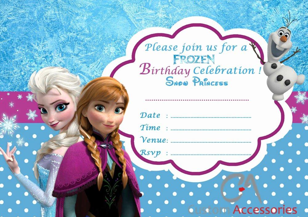Free Frozen Invite Template Beautiful 20x Frozen Elsa Party Invitations Kids Children S Invites