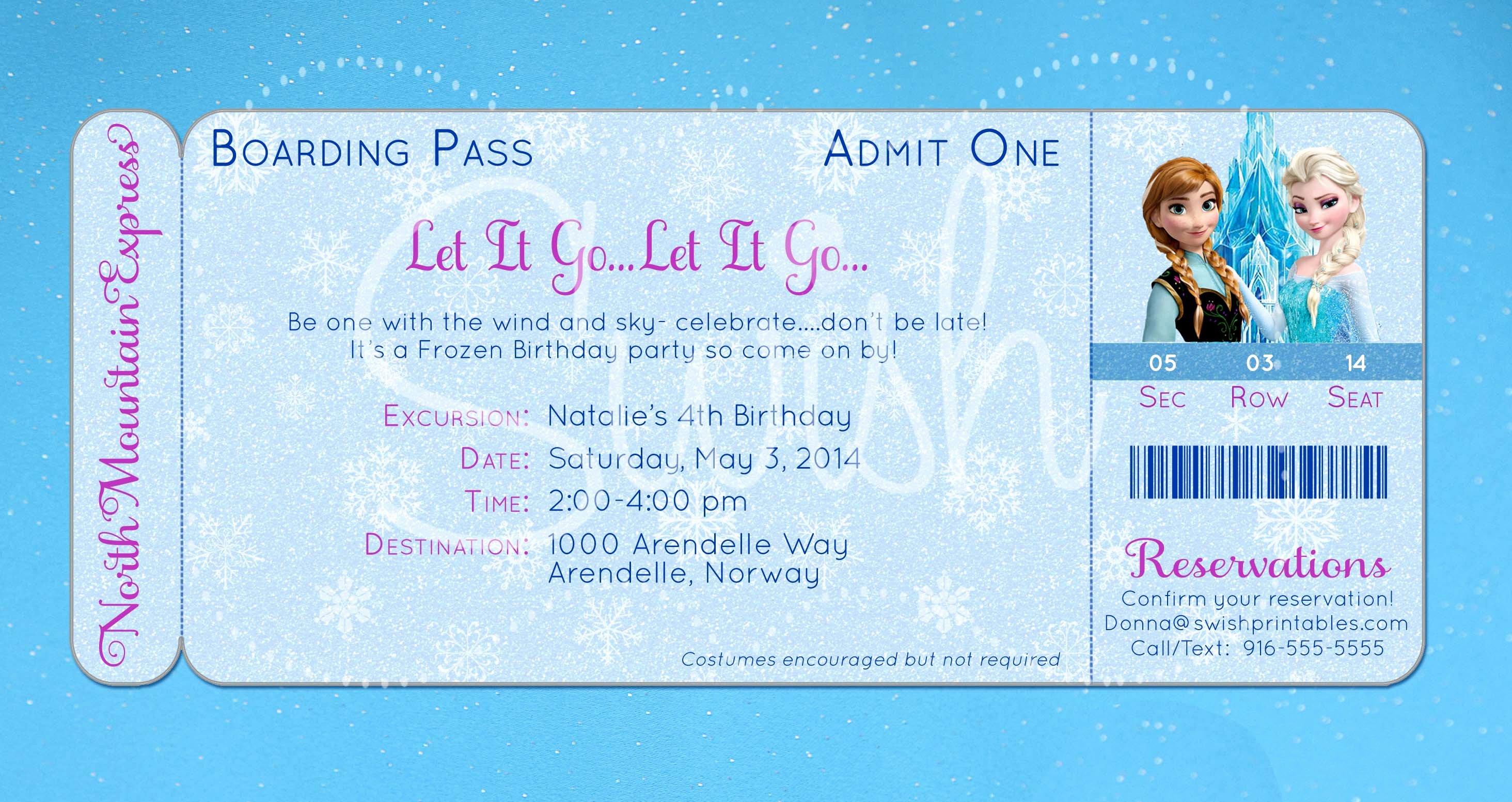 Free Frozen Invite Template Luxury Frozen Invitation Template