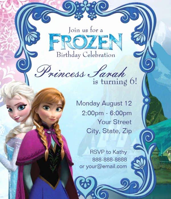 Free Frozen Invite Template Unique 13 Frozen Invitation Templates Word Psd Ai
