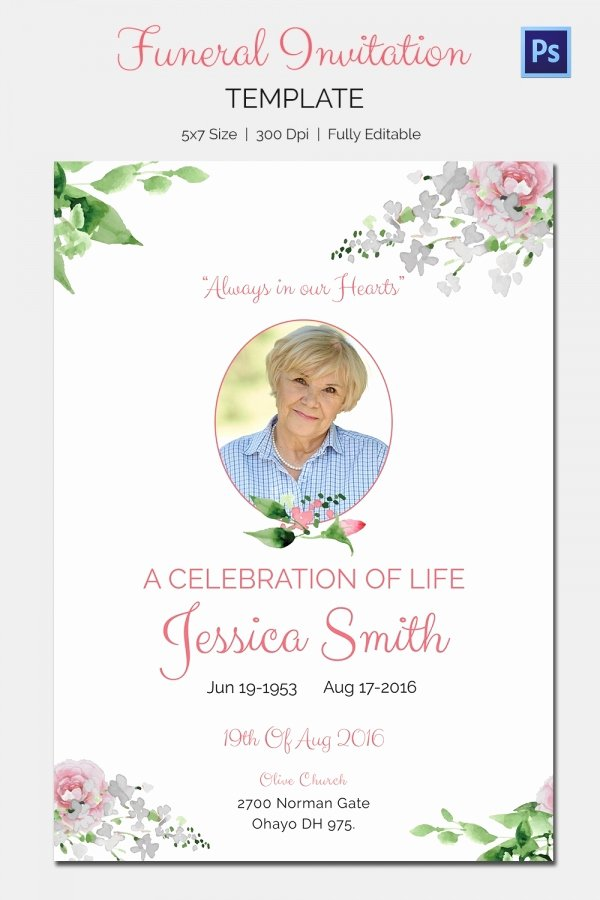 Free Funeral Announcement Template Best Of Funeral Invitation Template – 12 Free Psd Vector Eps Ai