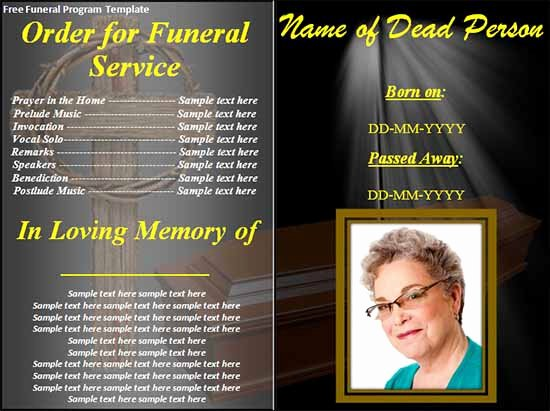 Free Funeral Announcement Template Best Of Funeral Program Template 30 Download Free Documents In