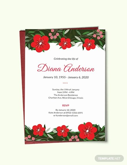 Free Funeral Announcement Template Fresh Free Simple Funeral Invitation Template Download 513