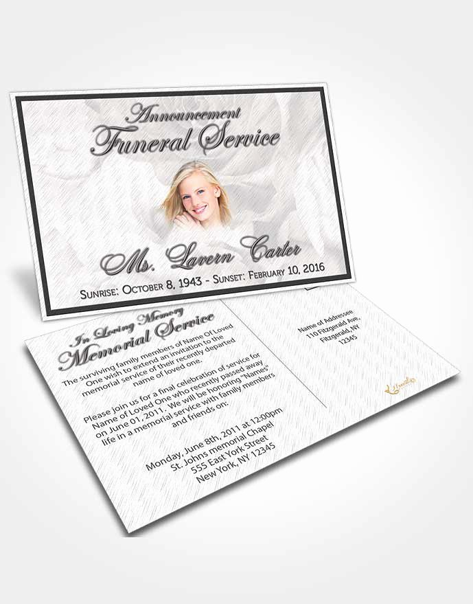 Free Funeral Announcement Template Lovely Bifold order Of Service Obituary Template Brochure Free