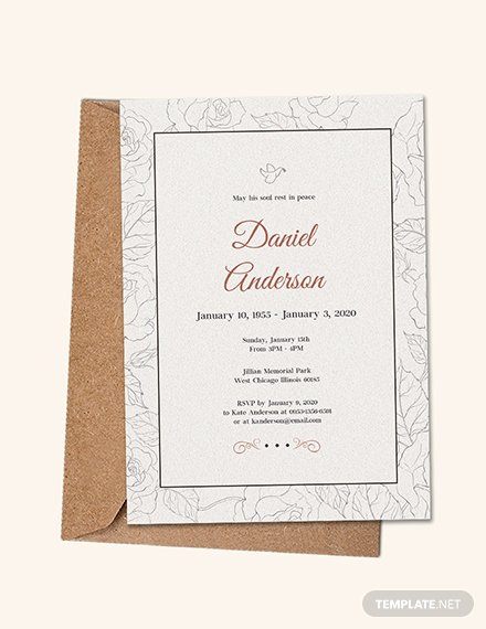 Free Funeral Announcement Template Unique Free Simple Funeral Invitation Template Download 513