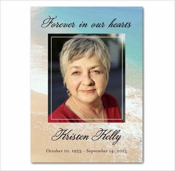 Free Funeral Card Template Beautiful 16 Obituary Card Templates Free Printable Word Excel