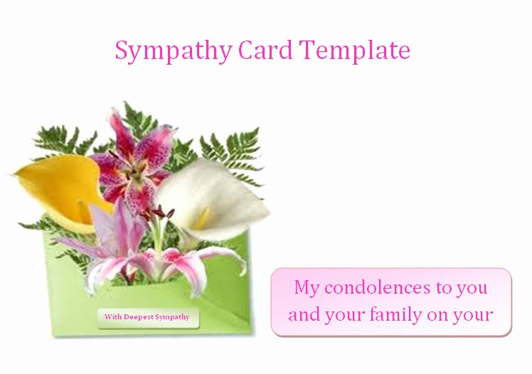 Free Funeral Card Template Beautiful Condolences Announcements Sample