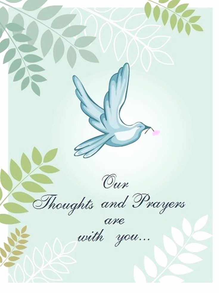 Free Funeral Card Template Fresh 11 Free Printable Sympathy Cards for Any Loss