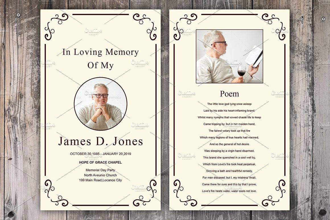 Free Funeral Card Template Fresh Funeral Prayer Card Template Card Templates Creative