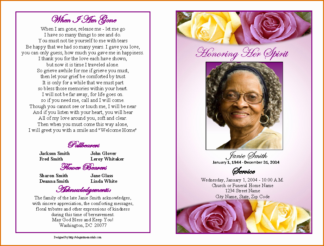 Free Funeral Card Template Inspirational 12 Free Printable Funeral Program Template