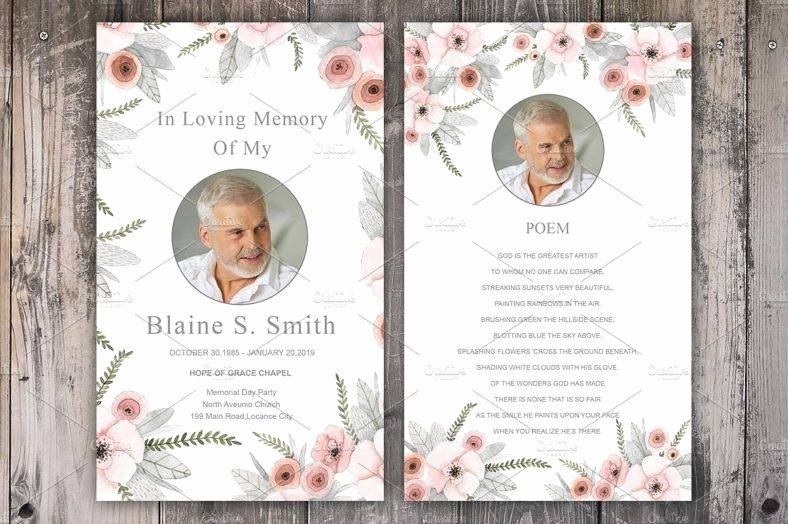 Free Funeral Card Template New 11 Funeral Memorial Card Designs & Templates Psd Ai