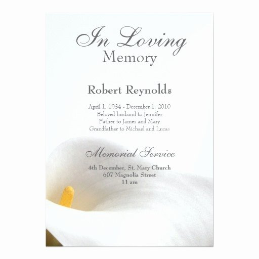 Free Funeral Invitation Template Awesome Memorial Announcement