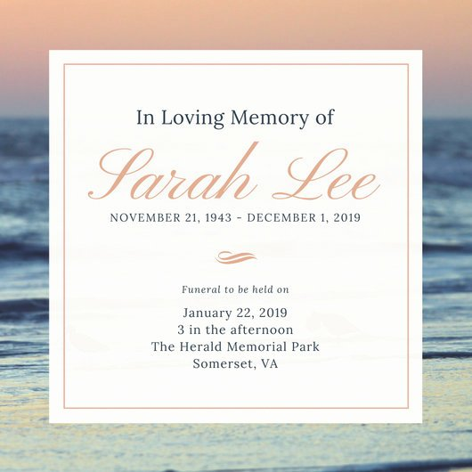 Free Funeral Invitation Template Inspirational Customize 40 Funeral Invitation Templates Online Canva