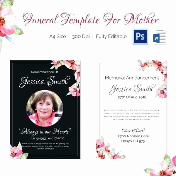 Free Funeral Invitation Template Inspirational Hospice Memorial Service Invitation Wording Invitations
