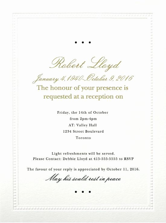 Free Funeral Invitation Template Inspirational Invitation Free Funeral Invitation Template Cybersilva