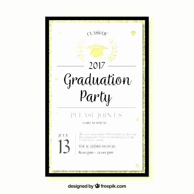 Free Funeral Invitation Template Luxury Graduation Party Invitations Templates Free Lovely